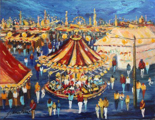 Festival, cuadro Fires i Carrusels de Blanco Grané
