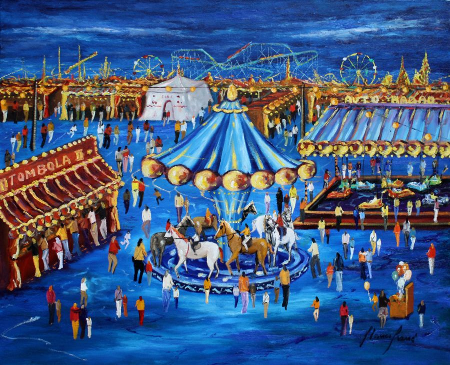 Festa Major, cuadro Fires i Carrusels de Blanco Grané