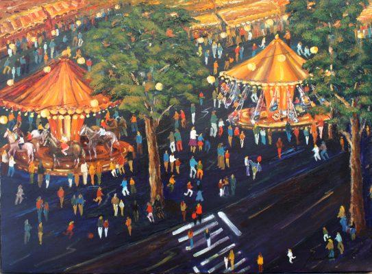 Festival cuadro Fires i Carrusels de Blanco Grané