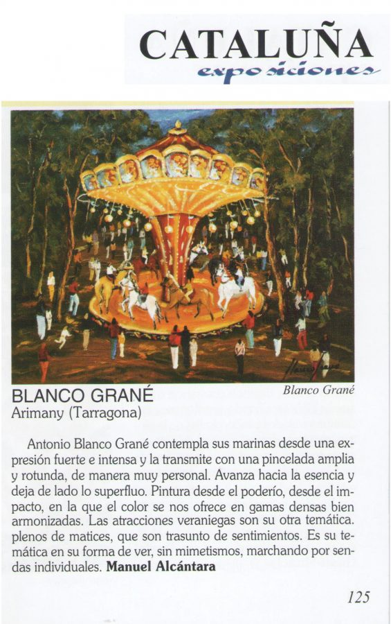 Blanco Grané a Gal Art nº. 365