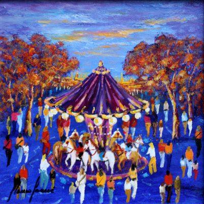 Festa de Tardor, cuadro Fires i Carrusels de Blanco Grané