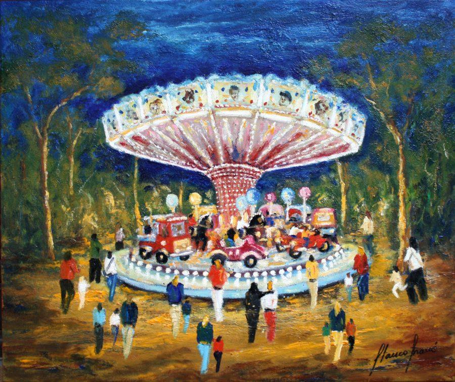 Carrusel Tossa, cuadro Fires i Carrusels de Blanco Grané