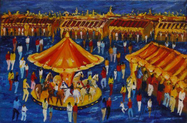 Festa Marjor, cuadro Fires i Carrusels de Blanco Grané