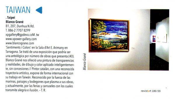 Artículo de Blanco Grané, artista pintor de Tossa de Mar
