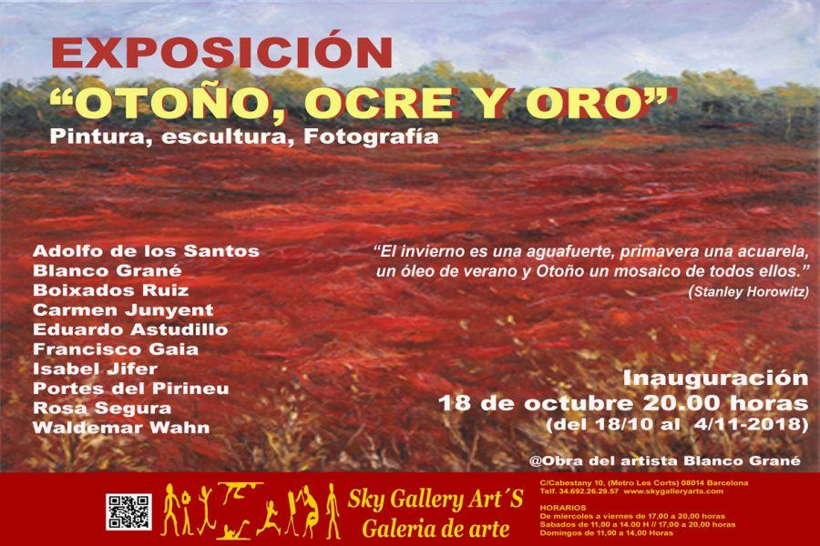 Exposició Blanco Grané Sky Gallery 2018