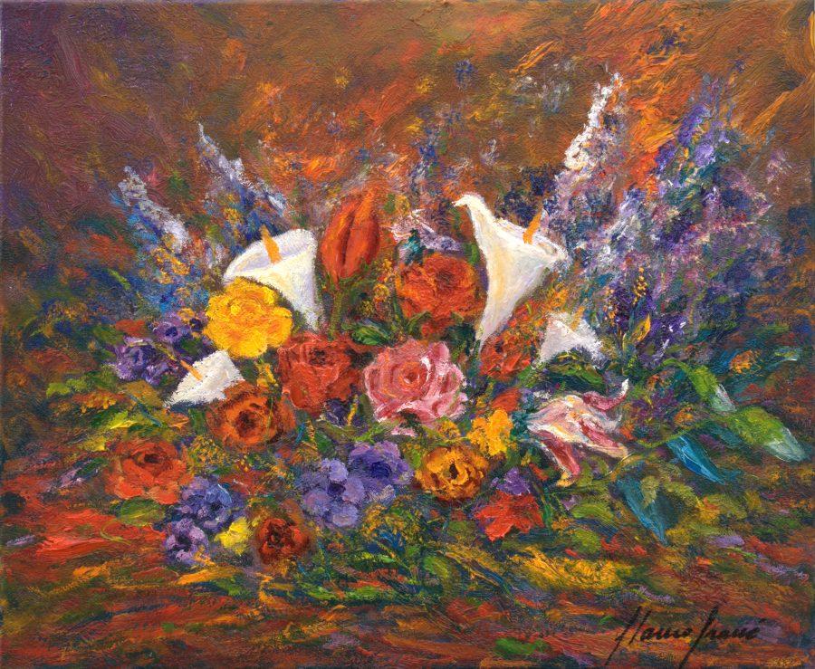 Flors, cuadro Bodegons de Blanco Grané