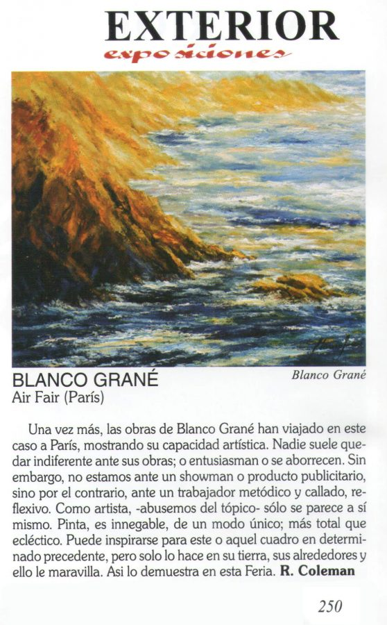 Blanco Grané a Art Fair. París
